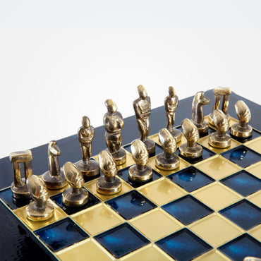 Cycladic Art Solid Brass Chess Set by Manopoulos