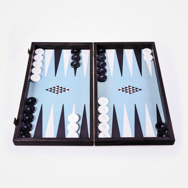 Turquoise Geometric Shapes Backgammon Set by Manopoulos