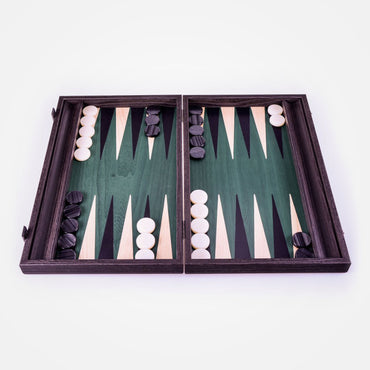 Embroidered Geometric Arrow Motif Backgammon Set by Manopoulos