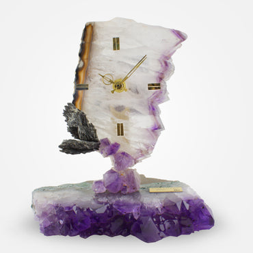 Amethyst Crystal Clock by Ebano