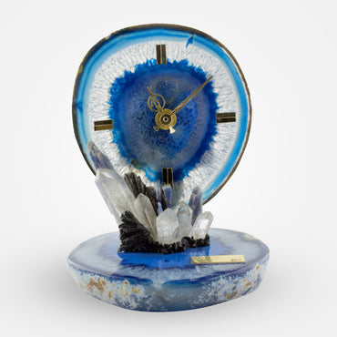 Blue Agate Crystal Clock by Ebano