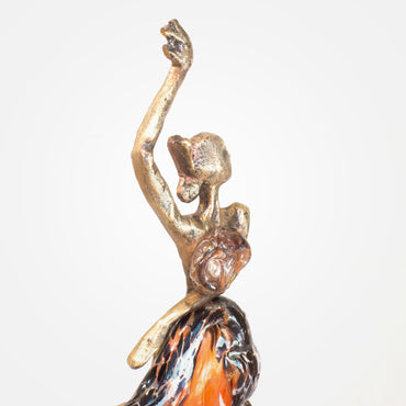 Flamenco - Bronze Crystal Sculpture by Ebano