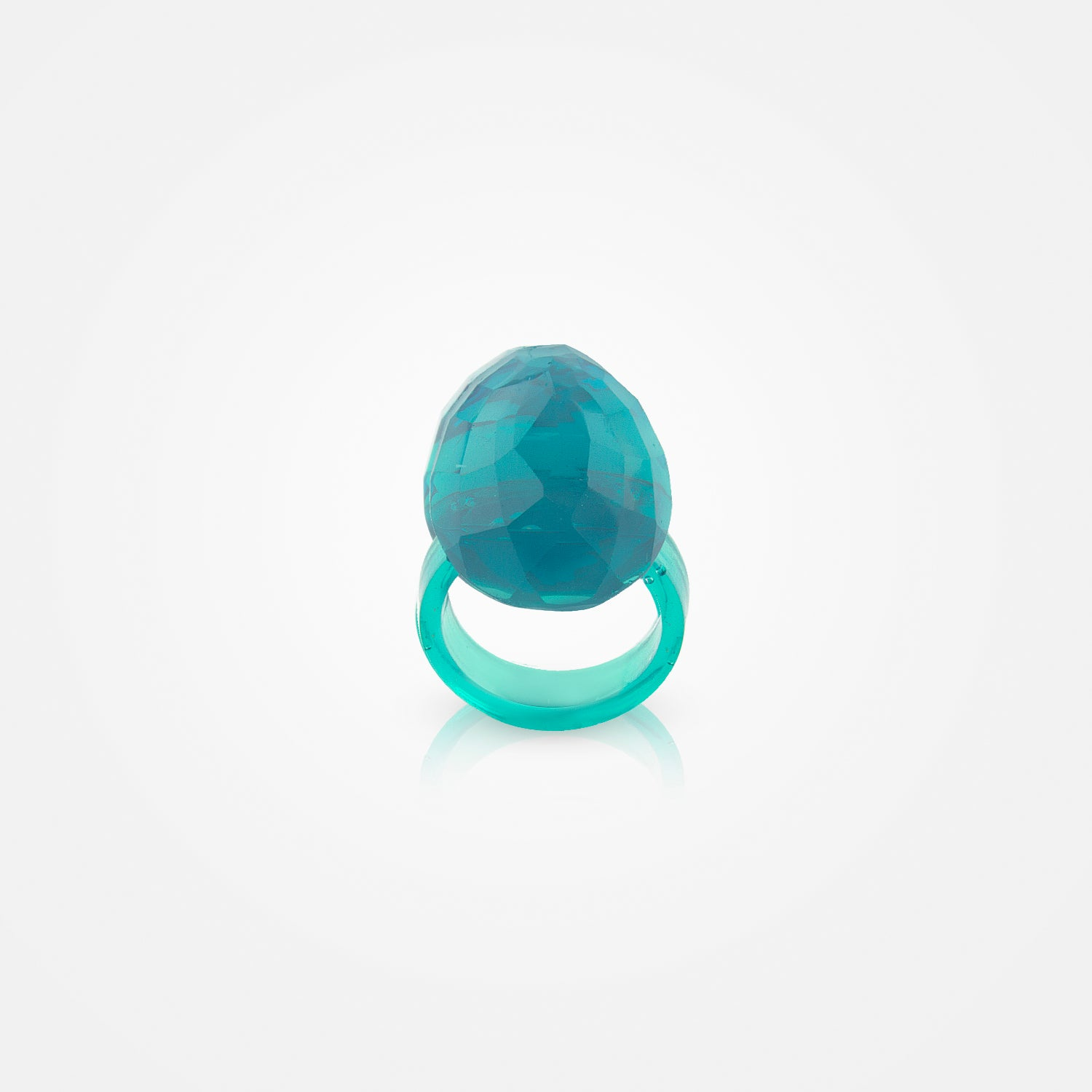 Handmade Crystalline Aqua Ring by Corsi