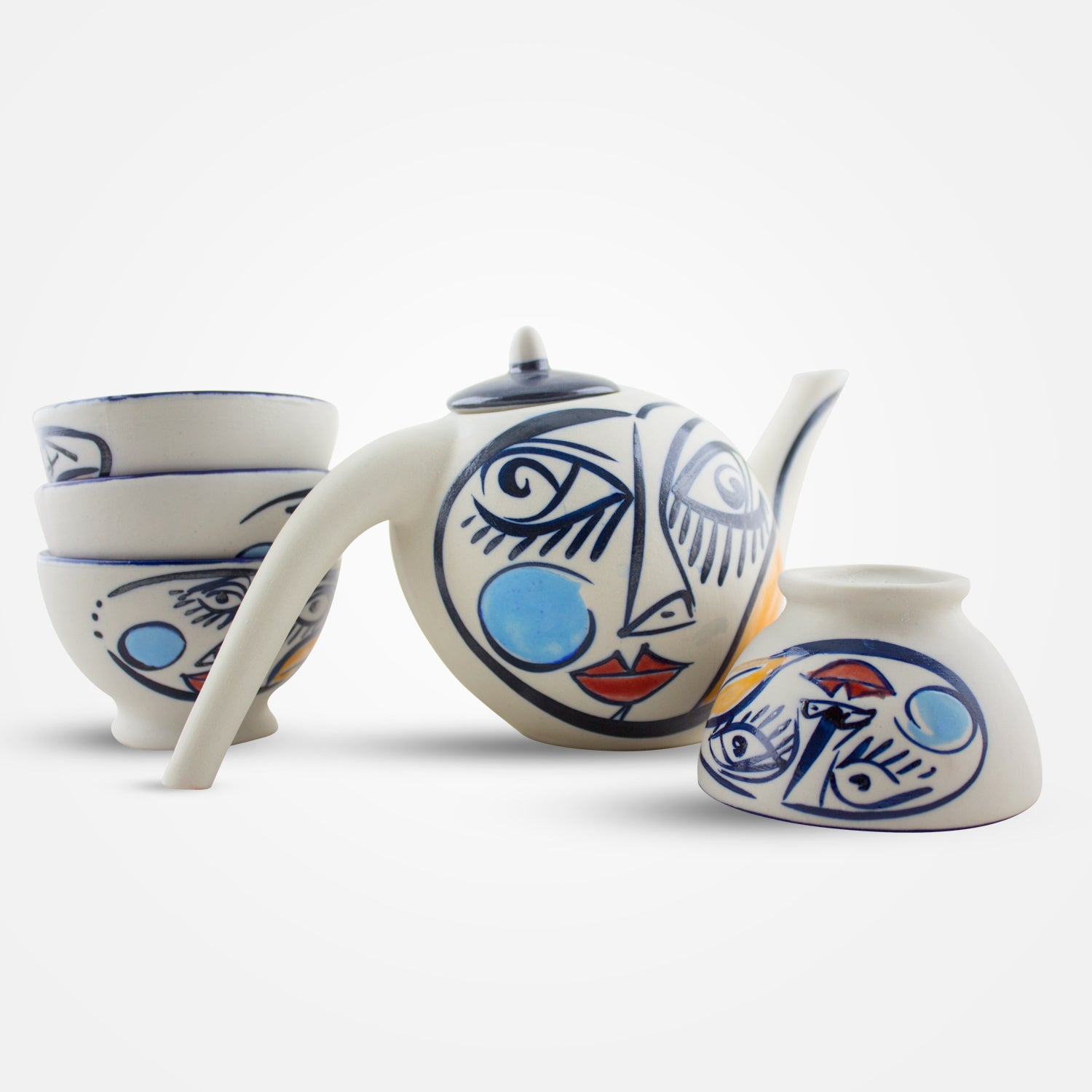 Laxiero Tea Set by Ceramica Regal