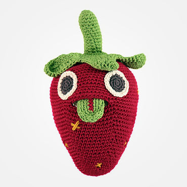 Stuart The Strawberry Musical Organic Soft Toy by MyuM