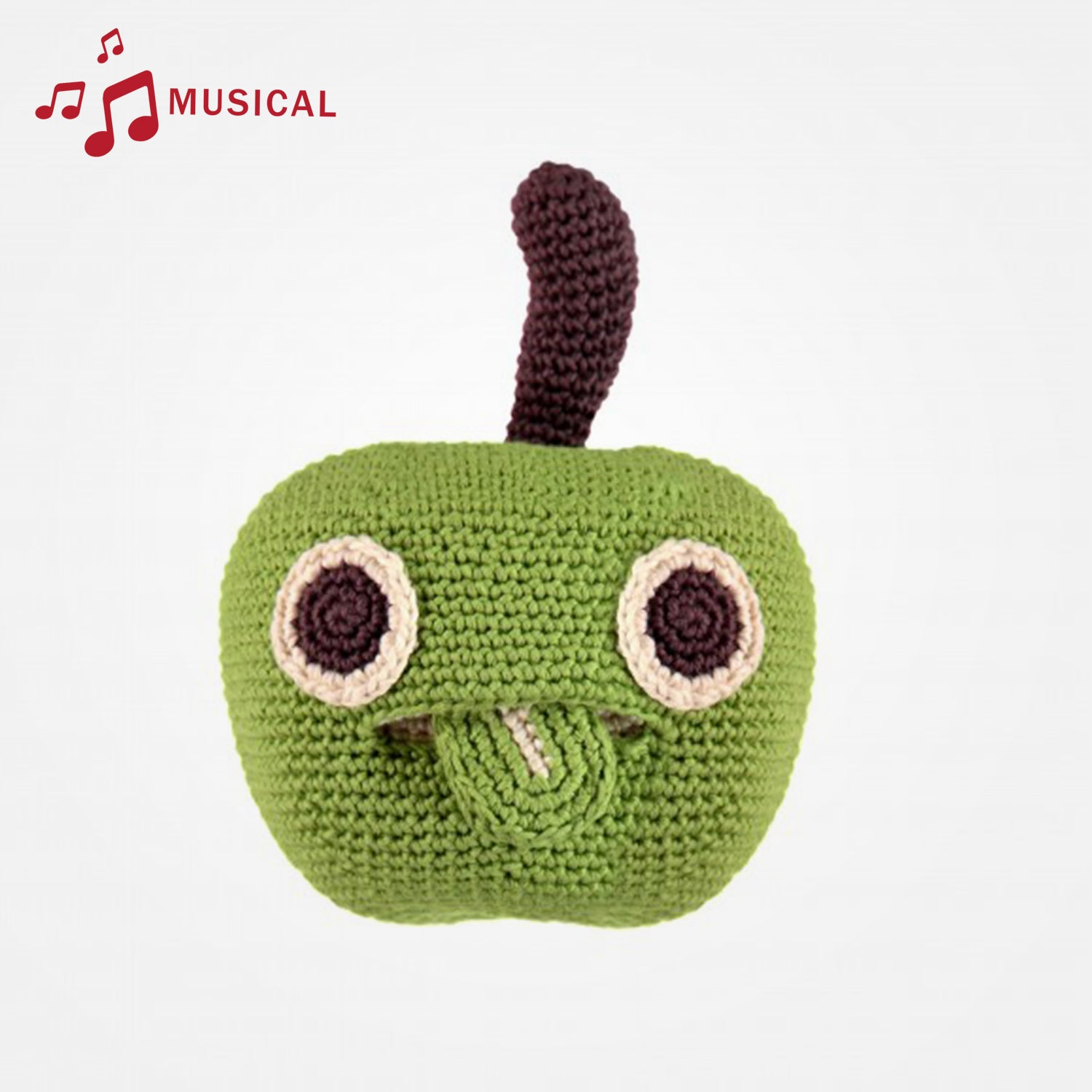 Alice The Apple Musical Organic Soft Toy by MyuM