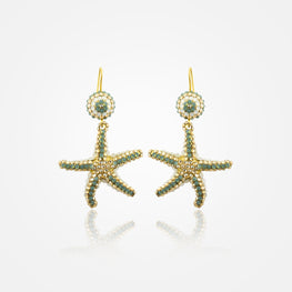 Handcrafted Golden Starfish Earrings by  FO.BE