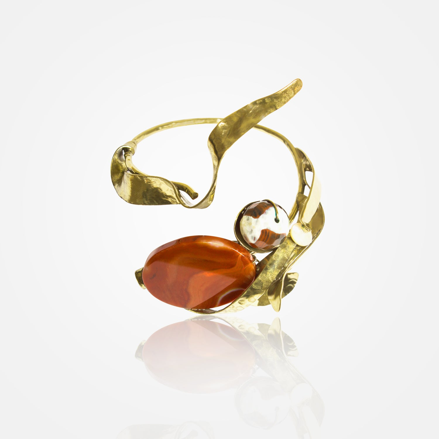 Handcrafted Golden Embers Bracelet by FO.BE
