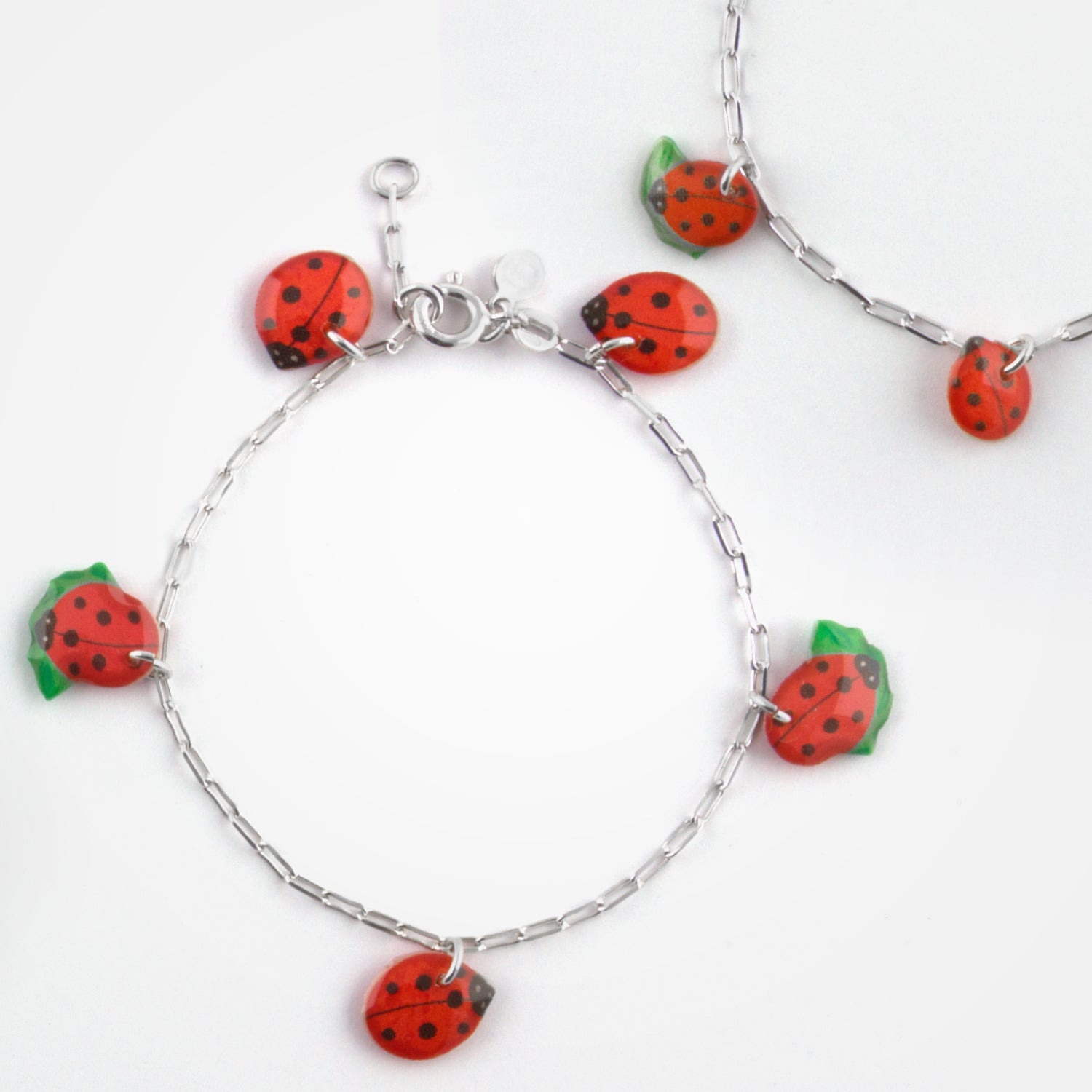 Lady Bug Set by Ribambelle - Set of 2 Bracelets