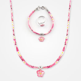Flower Set by Ribambelle - Necklace, Bracelet and Ring Set