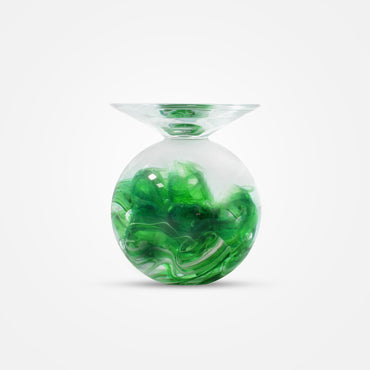 Diffusion Cyrstal Candle Holder - Green by Cerva Design