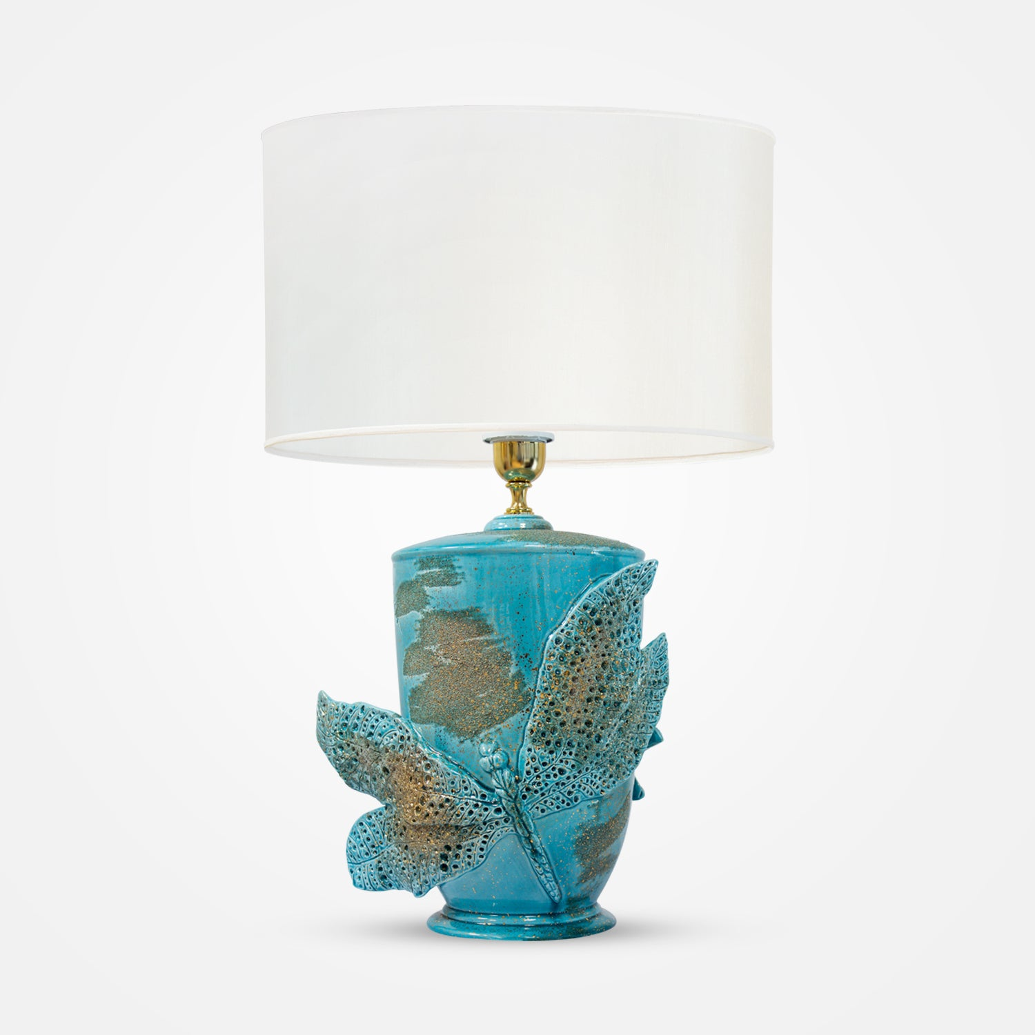 Dragonfly Turquoise Table Lamp by Ceramiche Dal Pra