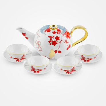 Fürstenberg Tea Bowls, Saucers and Tea Pot – Emperor's Garden