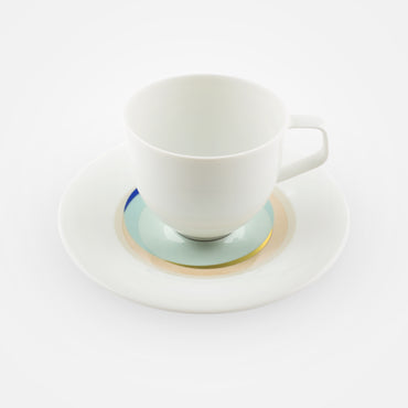 Fürstenberg Espresso Cups with Saucers - Fluen . Shifting Colors