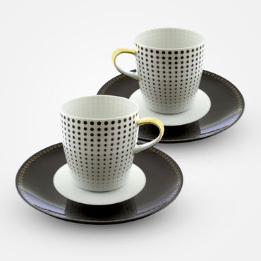 Fürstenberg Coffee Cups with Saucers - Auréole - Clair de Lune