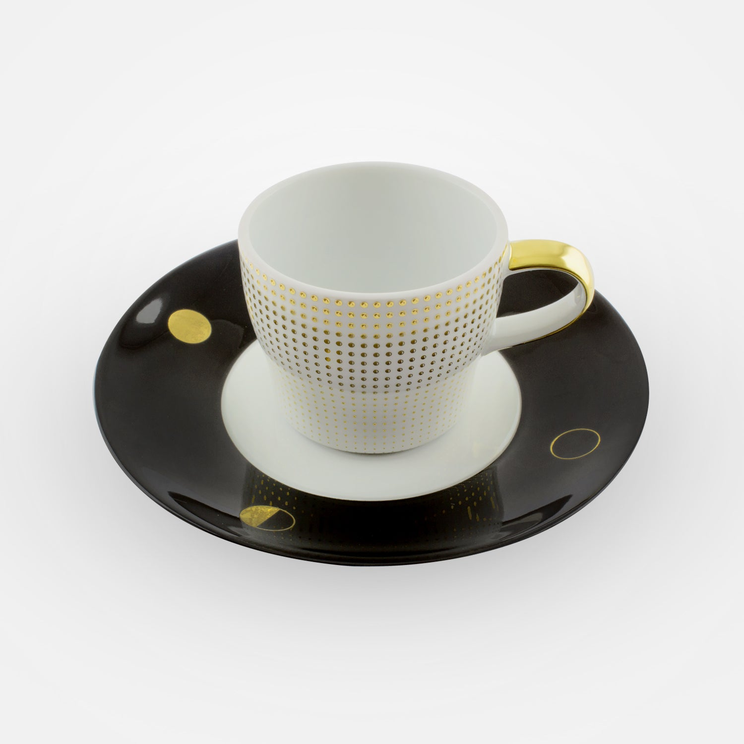 Fürstenberg Espresso Cups with Saucers - Clair de Lune