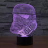 Star Wars Inspired Storm Trooper Helmet 3D Optical Illusion Lamp
