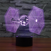 Star Wars Inspired Tie Fighter 3D Optical Illusion Lamp