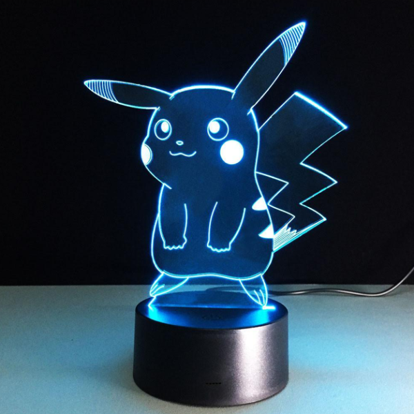 Pikachu 3D Optical Illusion Lamp