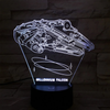 Star Wars Millennium Falcon 3D Remote Control 3 vision lights