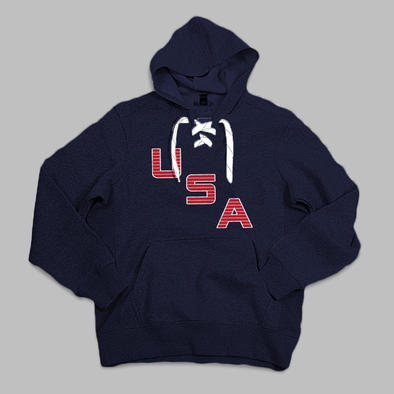 USA LACE-UP HOODIE