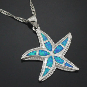 silver ocean Wish Upon A Starfish Necklace