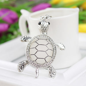 sterling silver Premium Turtle Keychain jewelry