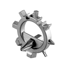 silver steel round Ship's Wheel Multi-Tool