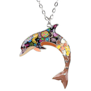 colorful Viva La Dolphin Necklace