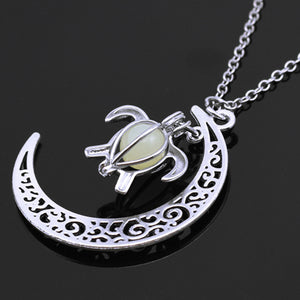 Moonlight Turtle Necklace
