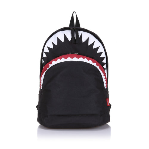 cool fashion teenager school Retro Shark Backpack