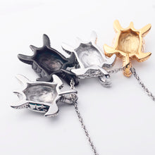 black gold silver Stainless Steel Turtle Necklace