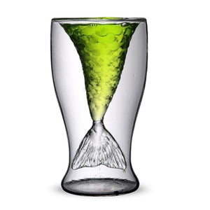 various color mermaid design cocktail glass