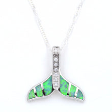 fire opal chain link whale tail necklace
