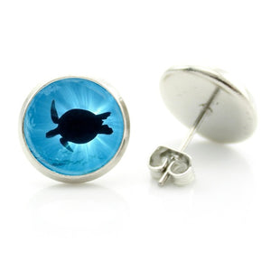 blue shark aqua marine earrings