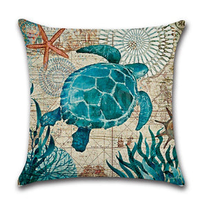 aquamarine canvas art soft decorative pillow