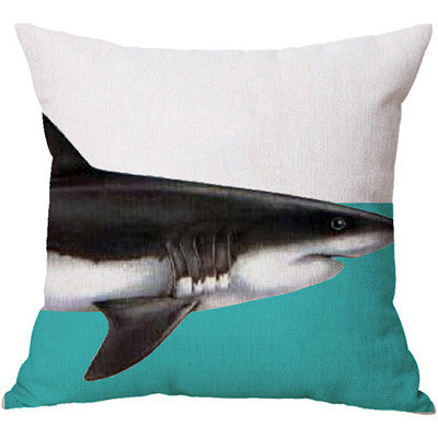 artistic home decor Shark Pillow Cover