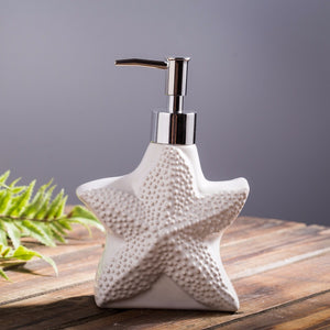 ocean starfish shaped soap dispenser