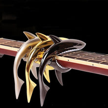 gold silver rose black Shark Guitar Capo