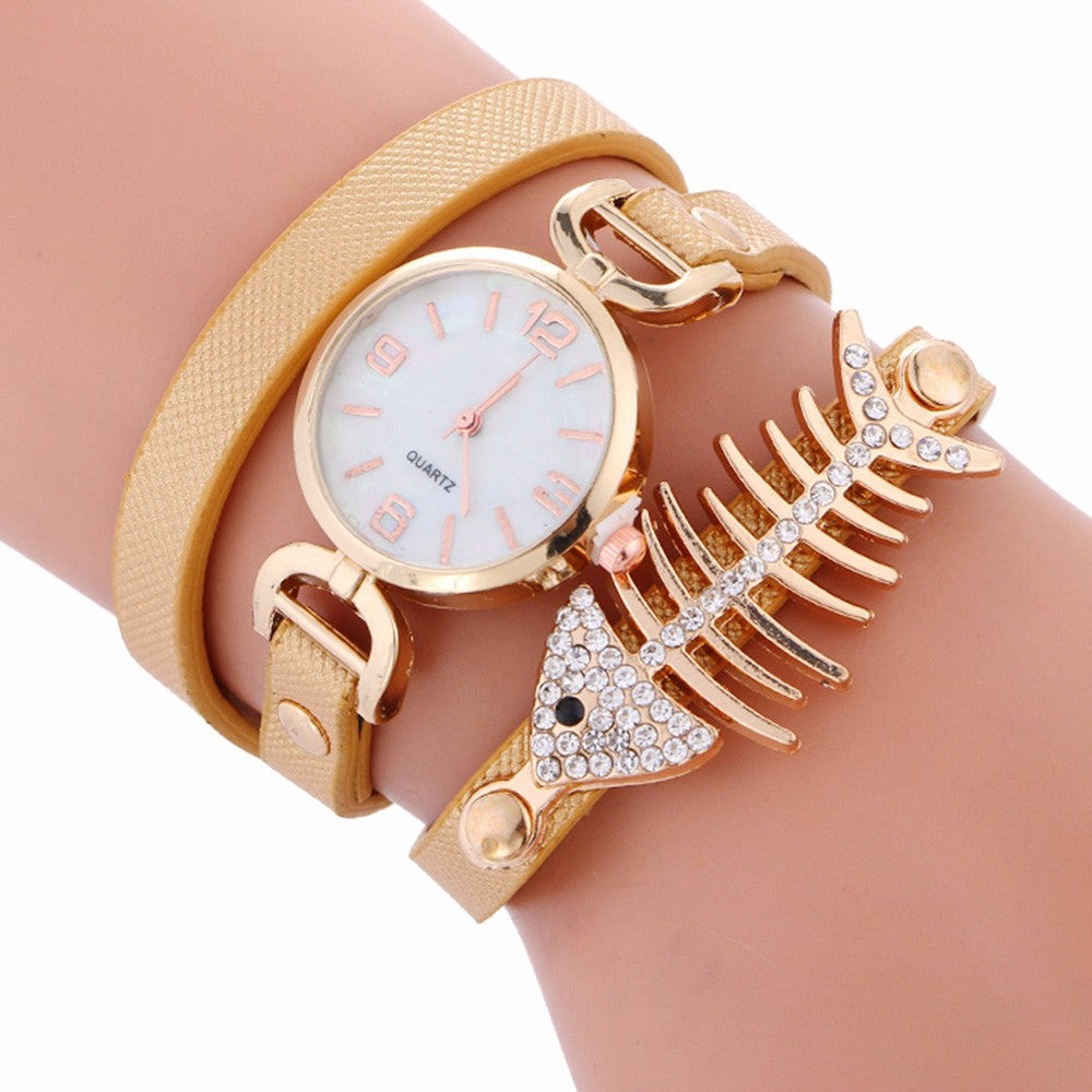 various colors Unique Fish bone Charm Watch
