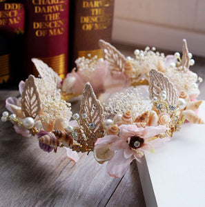 Crystal & Beads Shell Conch Hair Jewelry