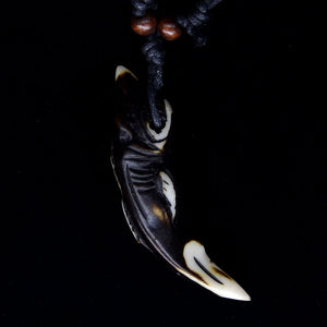 tibetan wood Tribal Wood Shark Pendant