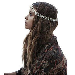Bohemian Shell Headband Head Piece Hair Band