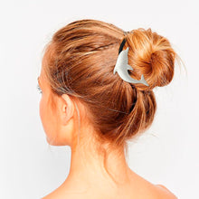 Silver Dolphin Elastic Ponytail Band