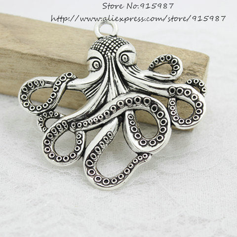 Antique Squid Pendant Charms