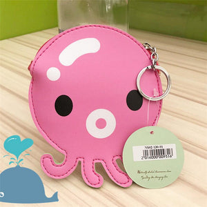 Squid Coin Wallet Keychain