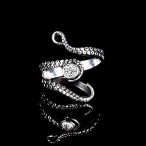 Octopus  Adjustable Finger Ring with  Rhinestone