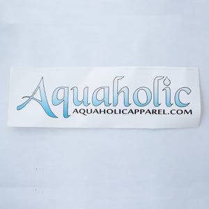 Aquaholic Classic Sticker