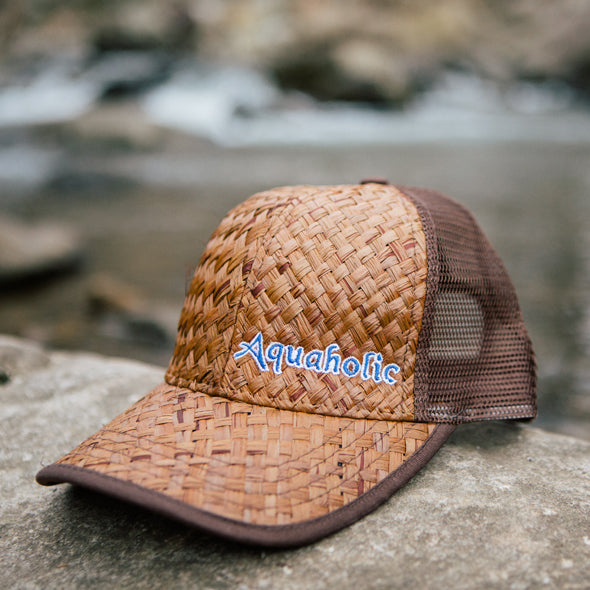 Aquaholic Classic Reed Trucker Hat