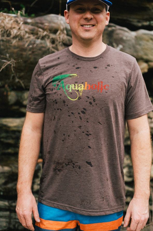 Aquaholic Men's Rasta Tee